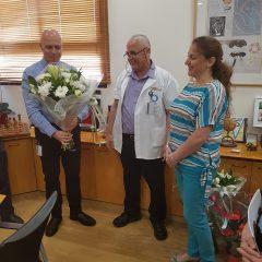 טקס הוקרה נוסף לצוות הרפואי המצטיין בחדר המיון של הלל יפה
